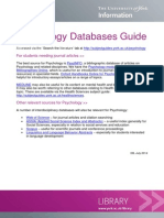 Psychology Databases Guide