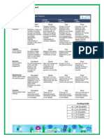 rubric for assessing foldables or graphic organizers