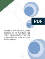 Información Semestral Clima Organizacional Minsa 2014