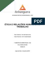 Ética e Relações Humanas No Trabalho