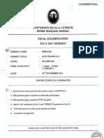 Final Exam BEB21304 S2 11