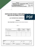 P-114-ITC-010 Anclaje de Dowells en Concreto Rev0