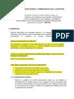 Planeacion Tecnica y Administrativa de La Auditoria