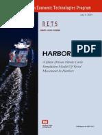 Data-Driven Monte Carlo Simulation Model of Vessel Movement in Harbors