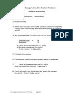 Dosage Questions 40 Questions