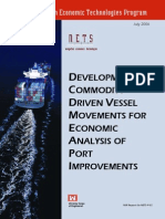 Development of Commodity Driven Vessel Movements for Economic Analysis of Port Improvements
