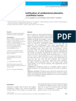 Purification and Identification of Antibacterial Phenolics