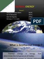 Presentasi Geothermal Energy