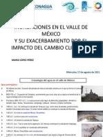 Inundaciones en El Valle de Mexico y Su Exacerbamiento