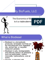 The Economics of Biodiesel Is it a viable alternative?