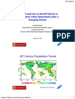 Effect of Land Use on Runoff Volume in Small Hudson Valley Watersheds under a Changing Climate