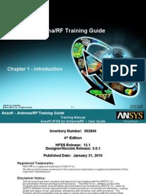 HFSS for Antenna-RF Training Guide v12   Finite Element Method