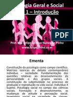 Aula1 - Introdução à Psicologia Geral e Social