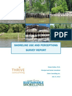 SHORELINE USE AND PERCEPTIONS SURVEY REPORT