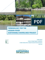TERMINOLOGY FOR THE HUDSON RIVER SUSTAINABLE SHORELINES PROJECT