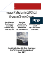 Hudson Valley Municipal OfficialViews on Climate Change Views on Climate Change