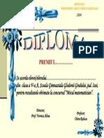 diploma premii