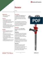 E-Plus Tubing Rotator Technical Datasheet