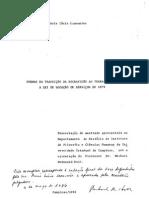 LAMOUNIER, Maria Lúcia - Formas Da Transição Ao Trabalho Livre a Lei de Locação de Serviços de 1879