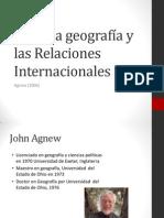 Entre La Geografía y Las Relaciones Internacionales