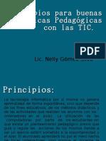 Principios para las buenas pacticas pedagógicas con las Tics
