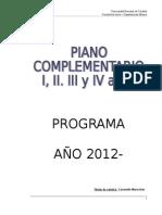 Piano Complement. I II III IV 2012