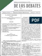 Diario de Los Debates Del Constituyente