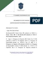 Voto Vencido - Processo 127 - America FC