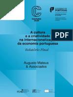 Indústrias Culturais E Internacionalização Da Econon Portug - AugMateus