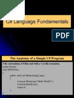 CChapter 3- C-sharp Language Funcamentals
