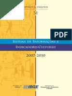 Indic Culturais 2007 2010
