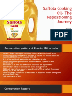 Saffola Cooking Oil- The Repositioning Journey