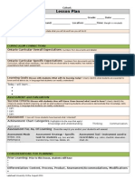 lakehead lesson plan template