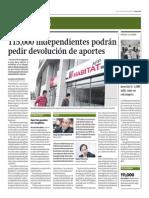 115 Mil Independientes Podrán Pedir Devolución de Aportes_Gestión 18-09-2014
