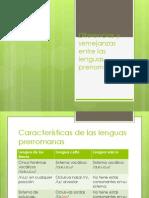 Diferencias y Semejanzas Entre Las Lenguas Prerromanas