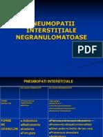 PNEUMOPATIILE INTERSTITIALE NEGRANULOMATOASE