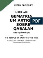 Um Artigo Sobre Qabalah (a. Crowley)