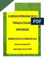 El Mercado Internacional de Los Forrajes. Actualidad y Oportunidades