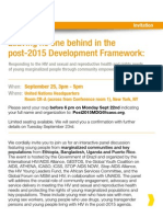 Leaving no one behind in the post-2015 Development Framework