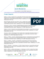 Publications of the Hudson River Sustainable Shoreline Project