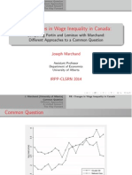 Changes in Wage Inequality in Canada