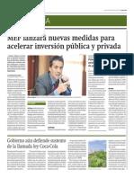 MEF lanzará nuevas medidas para acelerar inversión pública y privada