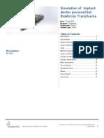 Implant Dentar Personalizat BioMicron Transilvania-Study 1-1