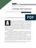 O Novo Na Sociologia Latino-Americana