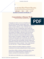 Comentários a Simone Weil