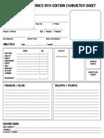 Nth Edition Character Sheet