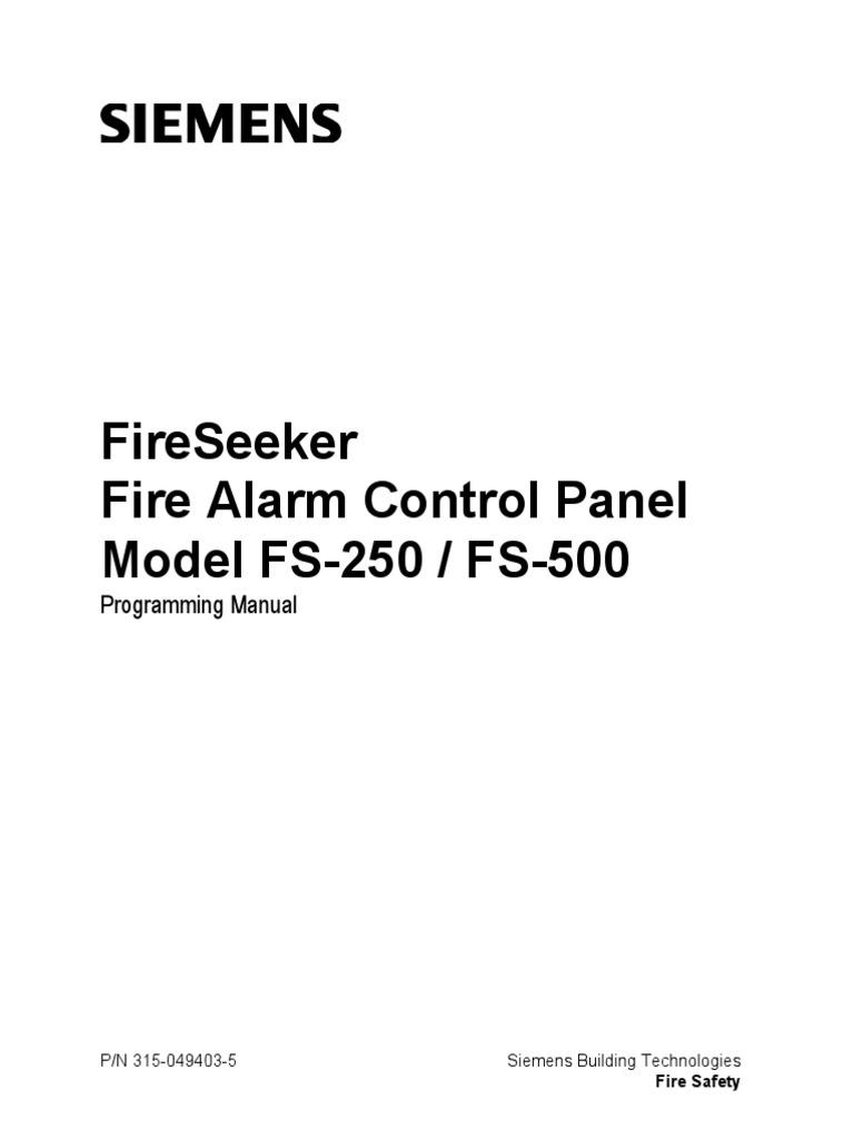 fs 250 programmers manual input output detector radio rh scribd com Siemens Programming Cable Siemens Programming Cable