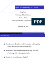 Human Capital and Inequality in Canada