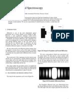 Report DiffractionSpectroscopy