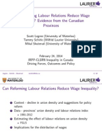 Can Reforming Labour Relations Reduce Wage Inequality? Evidence from the Canadian Provinces